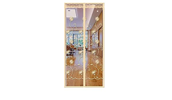 CH-Magnetic Curtain Cortina Anti-Mosquitos de Velcro, Cortina Magnética de Alto Grado de Alto Grado del Hilado del Dormitorio de la Puerta de Malla Anti-Vuelo Anti-Volada, Photo Colour, 130x220: Amazon.es: Deportes y aire