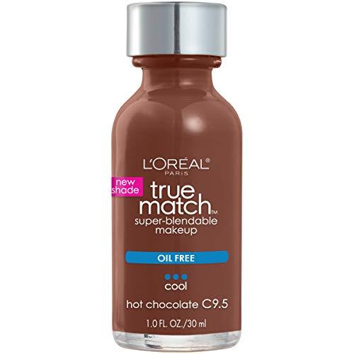 (L'Oreal Paris Makeup True Match Super-Blendable Liquid Foundation, Hot Chocolate C9.5, 1 fl.)