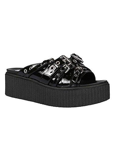 Black 505741R25031000 Leather Alexander Sandals Women's McQueen wBqECt