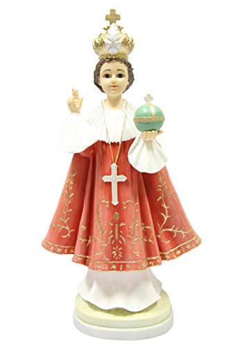 "Infant Jesus of Prague Italian 18"" Statue Sculpture Figurine Made in Italy 18"" Tall"