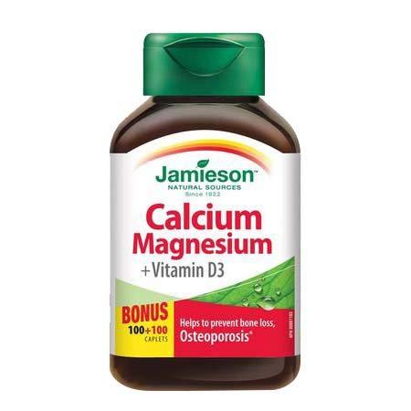 Jamieson Calcium & Magnesium with Vitamin D3, 100 caplets + 100 FREE BONUS by Jamieson