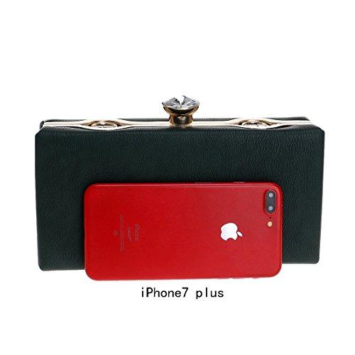 A colore Borsa Serale Borse Donna Tracolla In Nuove Pu Pacchetto Black Red Da Fly gXwHPH