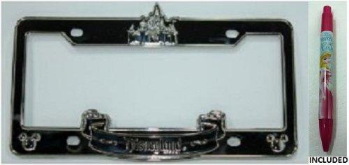 amazoncom disneyland castle chrome license plate frame disney parks exclusive limited availability automotive