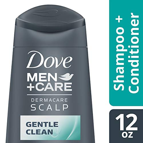 DOVE HAIR Men+Care Dermacare 2 In 1 Shampoo And Conditioner, Scalp Gentle Clean, 12 Ounce (Pack Of 6)