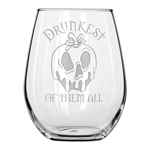 Snow White ★ Drunkest of them All ★ Disney Villains ★ Evil Witch ★ Fairy Tales ★ Funny Birthday Gift ★ Movie Themed Gifts ★ Halloween Wine Glasses ★ Disney Princess Wine Glass ★ Goth Girl