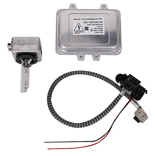 Yikesai 5DV 009 000-00 Xenon Hid Headlight Ballast Control Unit with Igniter and D1S Bulb for 2007-2014 Cadillac Escalade & 2006-2009 BMW E60 & 2008-2014 Chrysler Town Country (Bulb Bmw 525i)
