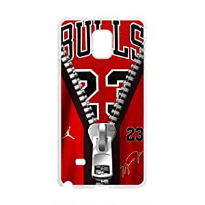 Creaitve Pattern Bulls 23 Zipper Fahionable And Popular Back Case Cover For Samsung Galaxy Note4