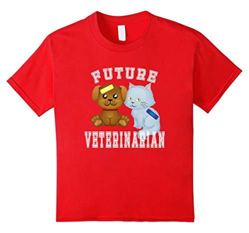 Dr Who Dog Costumes (Kids Future Veterinarian Pet Doctor Costume T-Shirt Adults & Kids 12 Red)