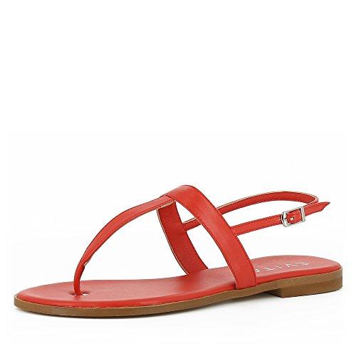 pelle Sandalo Women Evita Shoes Olimpia liscia in color corallo Xttq6E