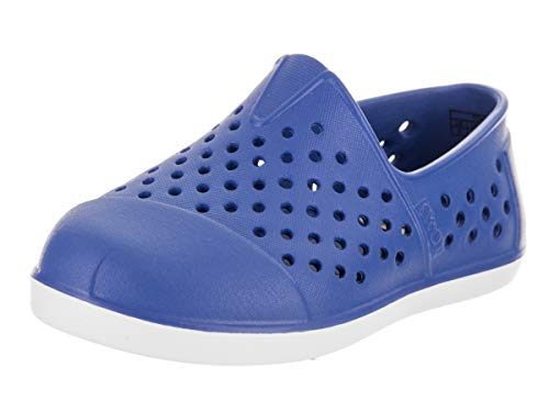 TOMS Kids Unisex Romper (Toddler/Little Kid) Blue Shoe
