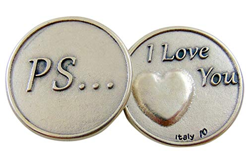 Westman Works PS I Love You Metal Pocket Token Made in Italy, 1 Inch