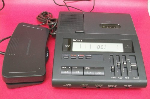 Sony Bm890 Bm-890 Microcassette Transcription Transcriber Machine 2-speeds