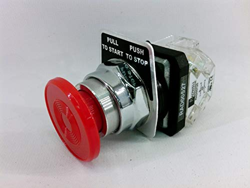 (RADWELL VERIFIED SUBSTITUTE 800T-FX6A1-SUB Push Button - 30MM Emergency Stop, Push-Pull, 1NO/1NC)