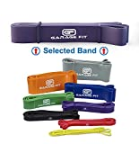 Garage Fit Pull Up Band, Assisted Pull Up Band, Pull Up Assist Band, WOD Band, Chin Up Assist Band #3 Purple (M) 100-120 lbs. 1 1/8