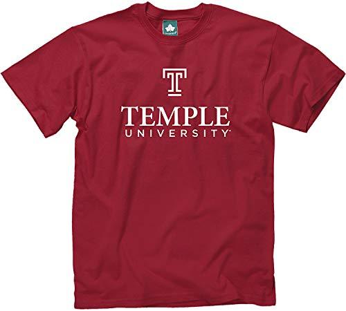 Ivysport Temple University Owls Short-Sleeve T-Shirt, Legacy, Cardinal, Small