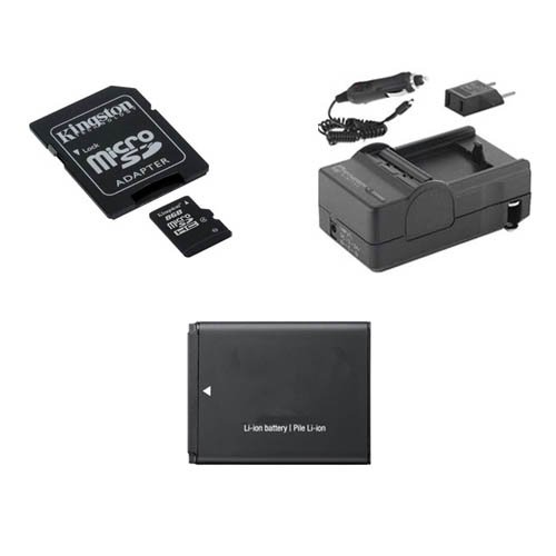 Samsung ST150F Digital Camera Accessory Kit includes: SDBP70A Battery, SDM-1516 Charger, U09371 Memory Card