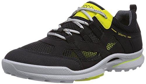 Ecco BiomUltra Kids - zapatillas de running de piel niño negro - Schwarz (Black/Black Sulphur S/T/58356)