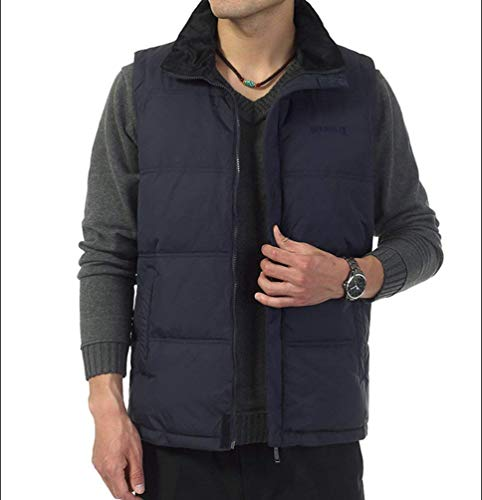 High Dunkel and Slim Winter Vest Comfortable Color Loose Outerwear Lannister Blau Solid Jacket Warm and Fashion Down Jacket Men's Cotton Fit zvcHc7qF1g