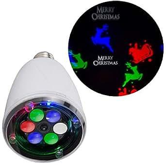 LED Projection Light Bulb - Merry Christmas