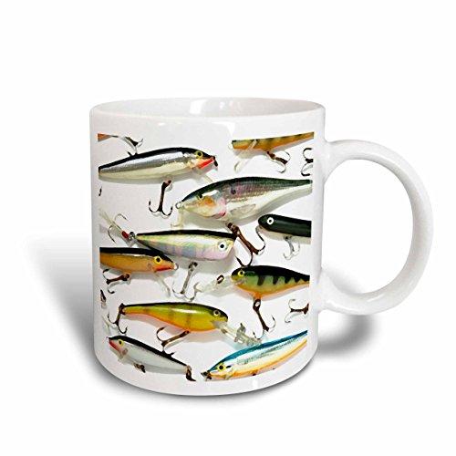 3dRose Fly Fishing Lures Mug, 11-Ounce