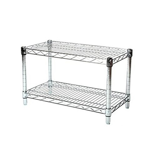 (LJ Commercial Chrome Wire Unit 14 x 24-2 Shelf Unit - 14