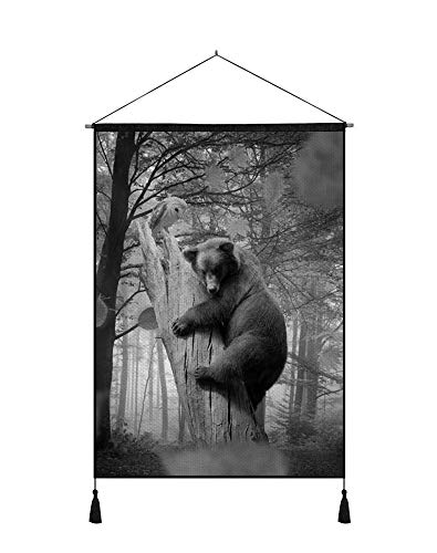 SHOBRILF 18x26 Inches Art Ptint Wall Scroll Poster - Bear Ow