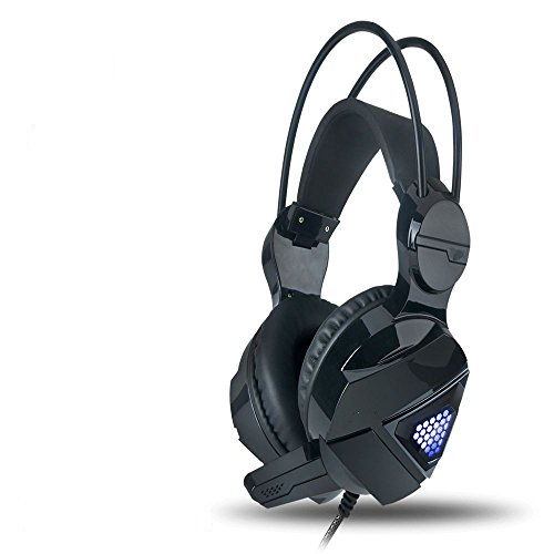XHKCYOEJ Headset Stereo Headset/Games/Headphones/Headphones/Head/Desktop/Pc/Game/Bass,Black: Amazon.co.uk: Electronics