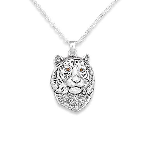 Auburn Tigers Crystal Necklace - Tiger 18
