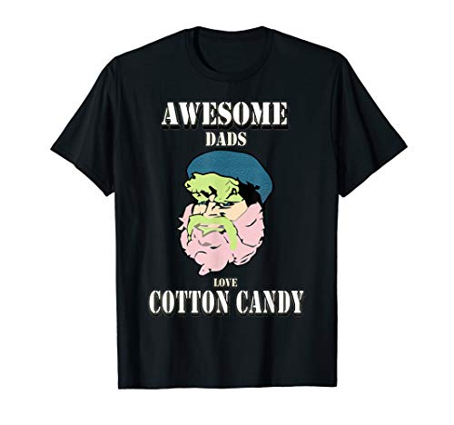 (Awesome dads love cotton candy : cotton candy randy T-shirt)