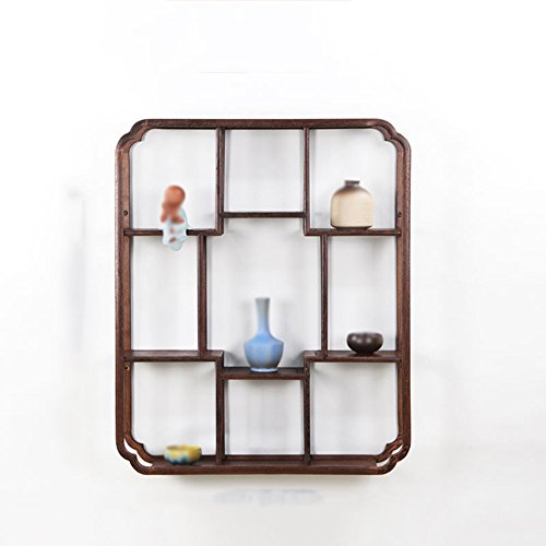 Wall Shelf / Rectangular Wall Shelf / Living Room Kitchen Wall Storage Rack  / Wood Chinese