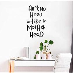JiuJiu.YanCo,Ltd Cartoon Ain't no Hood Like Mother Hood Cartoon Wall Decals PVC Mural Art DIY Poster for Kids Rooms Wall Stickers Wallpaper28x47cm