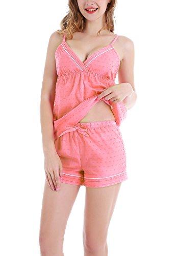 Yulee Las mujeres de Cami y Short Shorts pijama PJ Septiembre Pink