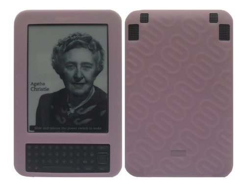 - iShoppingdeals - for Amazon Kindle 3G 3rd Generation WiFi+3G Pink Soft Silicone Skin Cover Case + Screen Protector Film