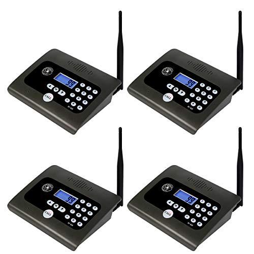 Retekess BS-820 Wireless Caregiver Intercom System Long Range Baby Monitor Full-Duplex 10 Channel for Home Room Office Elderly (4 Pack) ()
