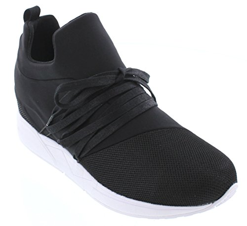 CALTO H7195-3 inches Taller - Height Increasing Elevator Shoes - Black Slip-on Fashion Sneakers sale online shop geniue stockist for sale ovm5DHp