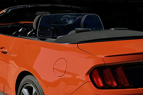 Wind Deflector for Convertible Compatible with 2013-2018 Jaguar F-Type Windrestrictor Clear with RED Illumination