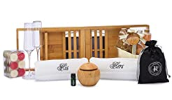 His and Hers Hand Towels Spa Gift Box   ...