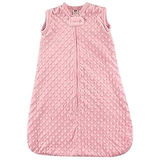 Hudson Baby Unisex Baby Plush Sleeping Bag, Sack, Blanket, Light Pink Dot Mink, 0-6 Month US