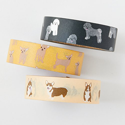 (Washi tape set - Welsh Corgi - value pack - decorative tape - Welsh corgi - bichon frise - chihuahua - Love My Tapes)