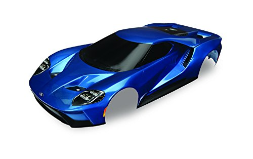 Traxxas Blue Painted Ford Gt Body (1: 10 Scale) Vehicle