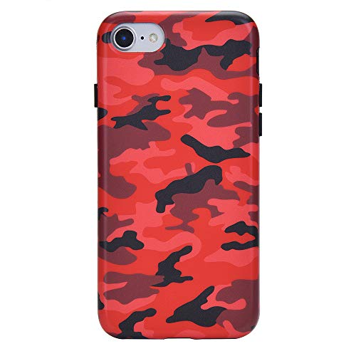 Red Camo iPhone 8 Case/iPhone 7 Case - Premium Protective Cover - Cool Phone Cases for Girls & Men [Drop Test Certified]