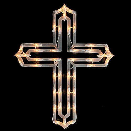 eligious Cross Easter Window Silhouette Decoration ()
