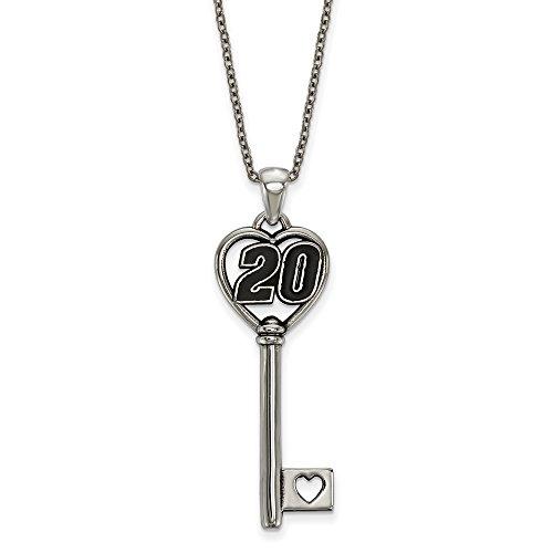 STAINLESS STEEL LogoArt Official Licensed NASCAR 20 MATT KENSETH HEART 1.5 KEY ON 18 ROLO CHAIN