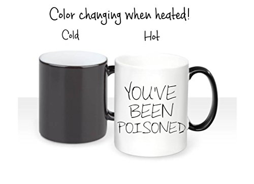 You've Been Poisoned Magic Color Changing Mug - Funny Coffee Mug, Unique Coffee Mug, Halloween Table Decor for $<!--$27.00-->