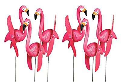 OTC Mini Pink Flamingoes Whirly-gig twirling Wings Lawn Ornaments (1-Pack of 6)