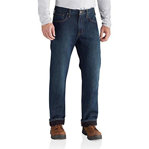 Fleece Relaxed Fit Jeans (Carhartt Men's M Relaxed Fit Holter Jean Fleece Lined, Blue Ridge, 34W X 30L)