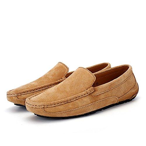 Mocasín Trabajo Zapatos Para de minimalismo Mocasín de Zapatos D Formal Hombre de Cuero HUAN de Zapatillas Suave de qFWnEdZZw