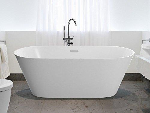 Vasca da bagno freestanding ovale acrilico havana iii beliani