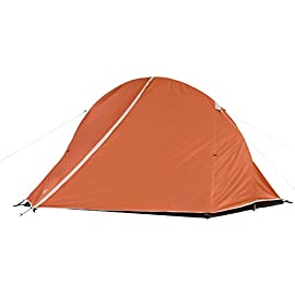 Coleman Hooligan Backpacking Tent 93 Sleeps 2 Main fly seams are factory taped Heavy duty 1000D polyethylene bathtub floor for extra durability and welded leak proof seams
