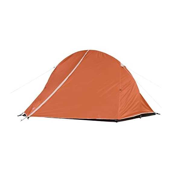 Coleman Hooligan Backpacking Tent 1 Sleeps 2 Main fly seams are factory taped Heavy duty 1000D polyethylene bathtub floor for extra durability and welded leak proof seams